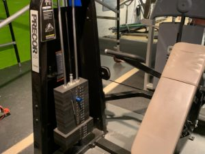 Icarian Precor Shoulder press